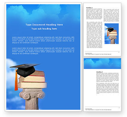 University Education Word Template, 03680, Education & Training — PoweredTemplate.com