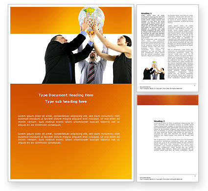 Global Partnership Word Template, 03682, Business Concepts — PoweredTemplate.com