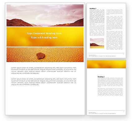 Deserted Word Template, 03684, Nature & Environment — PoweredTemplate.com