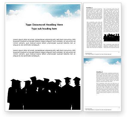 Graduates Word Template, 03685, Education & Training — PoweredTemplate.com