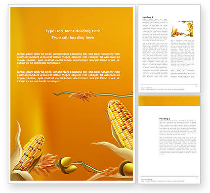Agriculture and Animals: Oogst Van De Herfst Word Template #03689