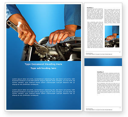 Engine Word Template, 03698, Utilities/Industrial — PoweredTemplate.com