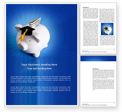 Education Costs Word Template, 03703, Financial/Accounting — PoweredTemplate.com