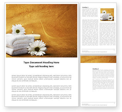 Bath Towels Word Template, 03713, Careers/Industry — PoweredTemplate.com