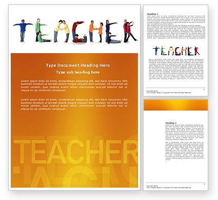 Education & Training: Teacher of Class Word Template #03723