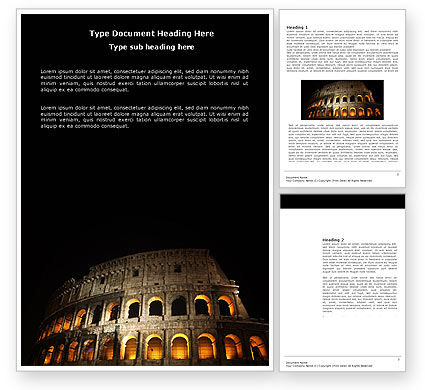 Coliseum Word Template, 03724, Construction — PoweredTemplate.com
