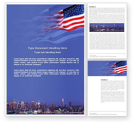 Patriot Day Word Template, 03725, America — PoweredTemplate.com