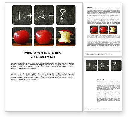 Arithmetic In School Word Template, 03728, Education & Training — PoweredTemplate.com