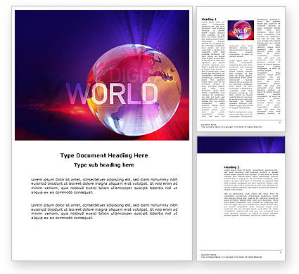 Global: Digital Land Word Template #03730