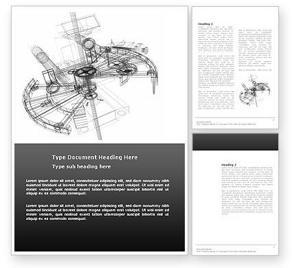 Construction: Construction Sketch Word Template #03740
