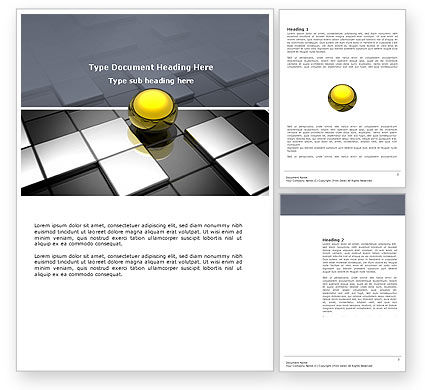 Business Concepts: Yellow Ball Word Template #03747
