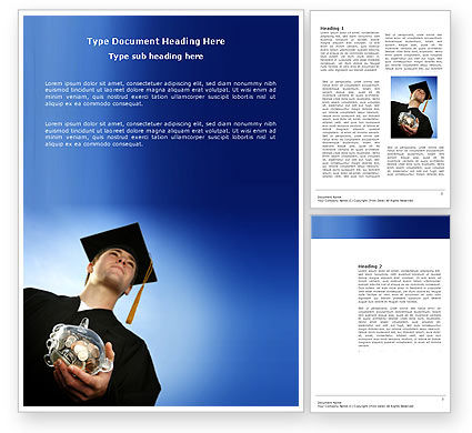 Paid Education Word Template, 03753, People — PoweredTemplate.com