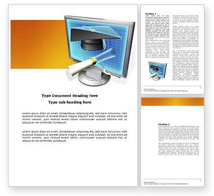 Long Range Education Word Template, 03754, Technology, Science & Computers — PoweredTemplate.com