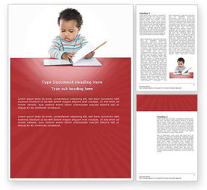 Education & Training: Kid Learning Word Template #03759