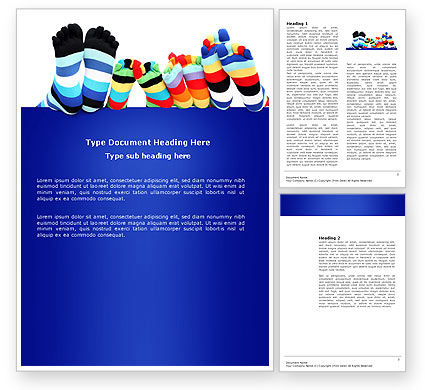 Rainbow Socks Word Template, 03760, General — PoweredTemplate.com