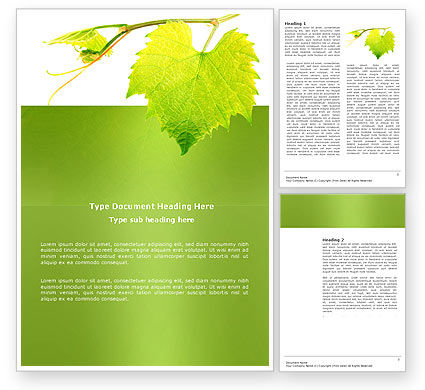 Green Flora Word Template, 03769, Agriculture and Animals — PoweredTemplate.com