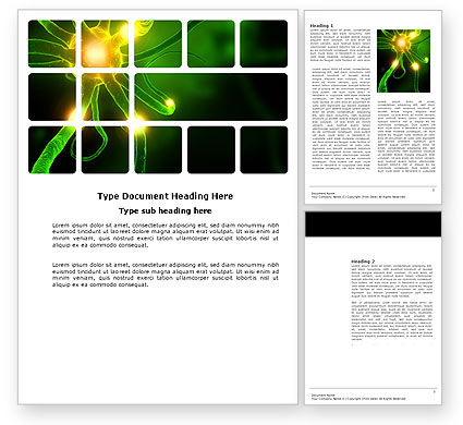 Nerve Word Template, 03777, Medical — PoweredTemplate.com