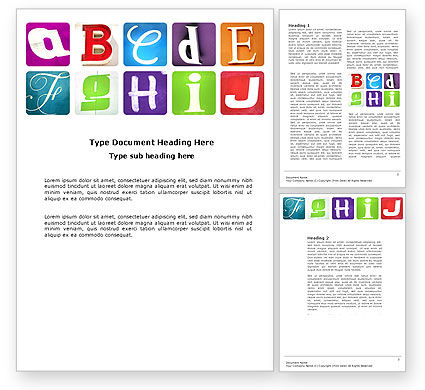 Alphabet Word Template, 03779, Education & Training — PoweredTemplate.com