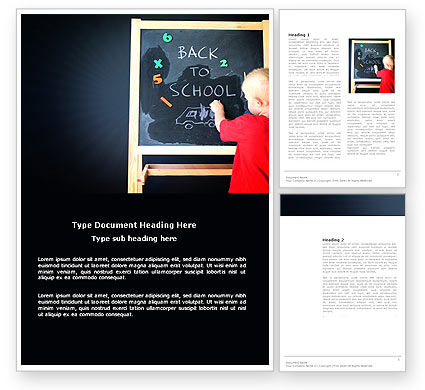 School Start Word Template, 03780, Education & Training — PoweredTemplate.com