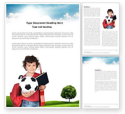 Schoolkids Summer Entertainment Word Template, 03785, Education & Training — PoweredTemplate.com