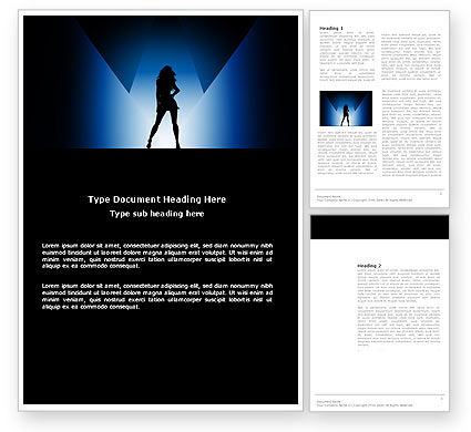 Art & Entertainment: Fashion Show Word Template #03788