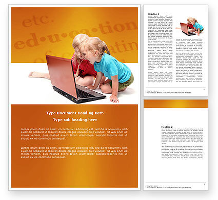 Long Distance Computer Education Word Template