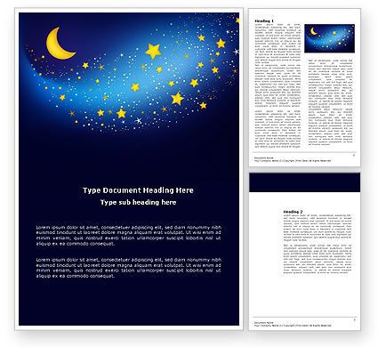 Abstract/Textures: Starry Night Word Template #03794