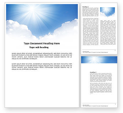 Heaven Word Template, 03799, Nature & Environment — PoweredTemplate.com