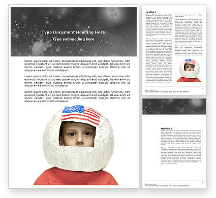 Technology, Science & Computers: Childhood Dreams Word Template #03801