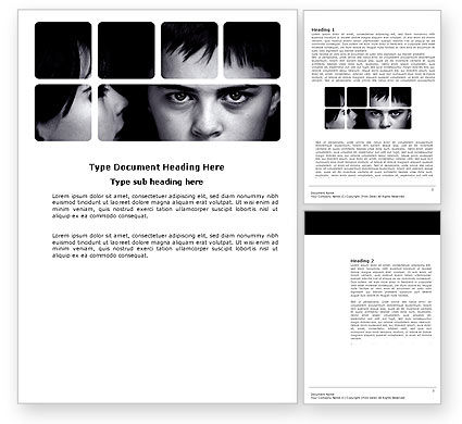 Child Psychology Word Template, 03802, People — PoweredTemplate.com