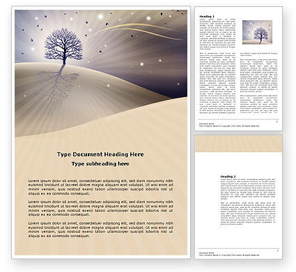 Careers/Industry: Shining Tree Word Template #03804