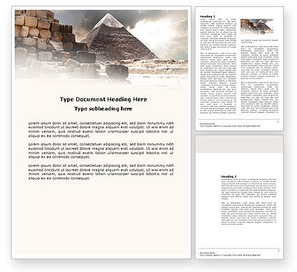 Pharaoh's Land Word Template, 03806, Business Concepts — PoweredTemplate.com