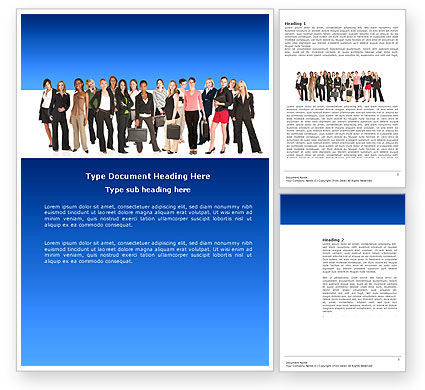 People: Business Ladies Word Template #03813