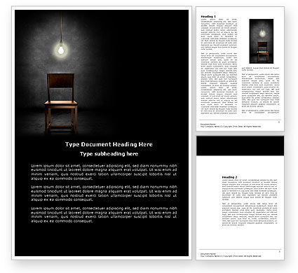 Business Concepts: Desolation Word Template #03814