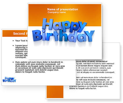 Happy Birthday PowerPoint Template, Happy Birthday Background for PowerPoint