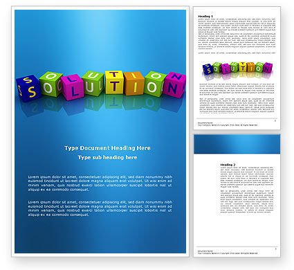 Education & Training: Solution 3D Word Template #03819