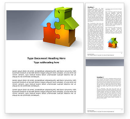 Construction: Real Estate Finance Puzzle Word Template #03823