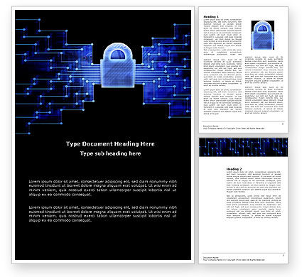 Safe Data Transfer Word Template, 03825, Technology, Science & Computers — PoweredTemplate.com