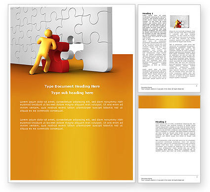 Business: Missing Part Completing Word Template #03829