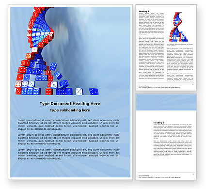 Gene Mutation Word Template, 03834, 3D — PoweredTemplate.com
