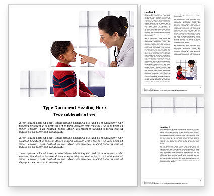 Medical: Paediatrist Word Template #03835