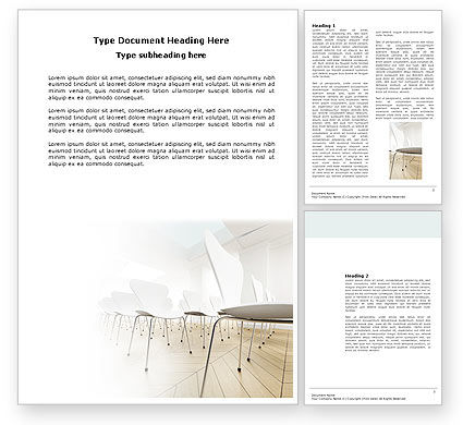 Lecture Hall Word Template, 03838, Business — PoweredTemplate.com