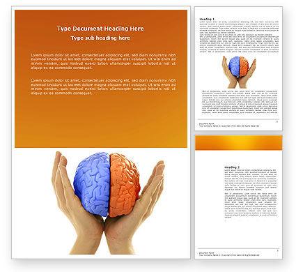 Cerebral Hemispheres Word Template, 03840, Consulting — PoweredTemplate.com