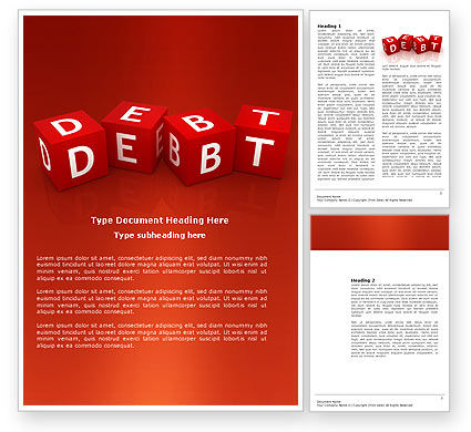 Debt Word Template, 03841, Financial/Accounting — PoweredTemplate.com