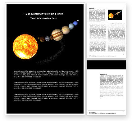Nature & Environment: Planet Parade Word Template #03842