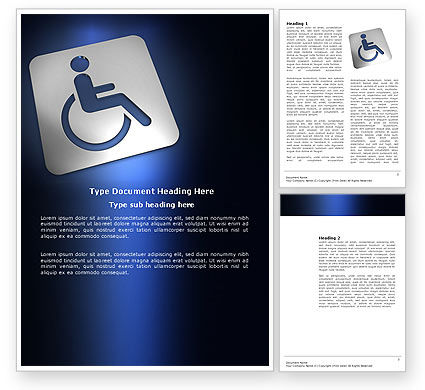 Medical: Disabled Person Word Template #03845