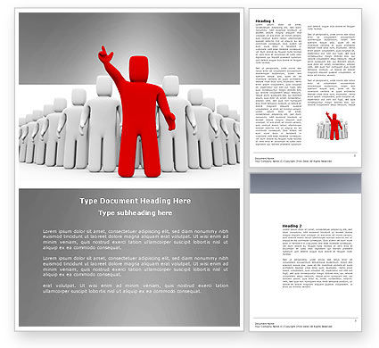 Red Leader Word Template, 03853, 3D — PoweredTemplate.com