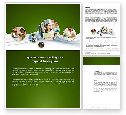 Education & Training: Hard Learning Word Template #03854