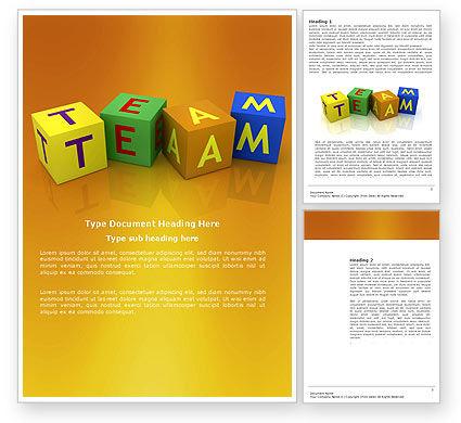 Team Word Template, 03855, Business Concepts — PoweredTemplate.com