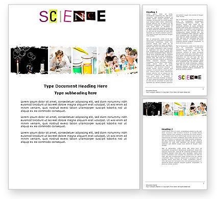 Technology, Science & Computers: Science in School Word Template #03859